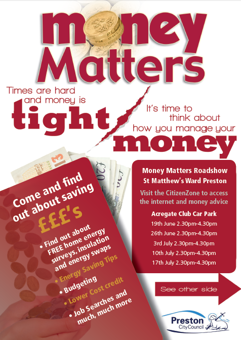 Money Matters Energy A5 Leaflet St Matthews June 14