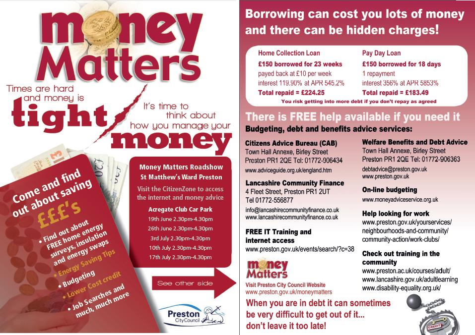 Money Matters Energy A5 Leaflet St Matthews June 14